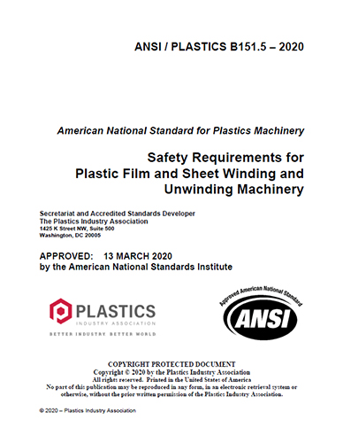 Safety Reqs for Film and Sheet Winding/Unwinding Machinery