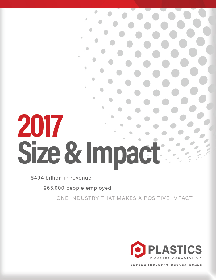 Size and Impact of the Plastics Industry on the U.S.: 2017