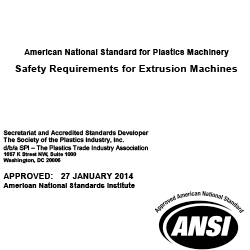 ANSI/SPI B151.7-2014 Safety Reqs for Extrusion Machines