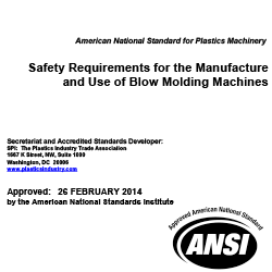 ANSI/SPI B151.31-2014 Safety Reqs for Blow Molding Machines