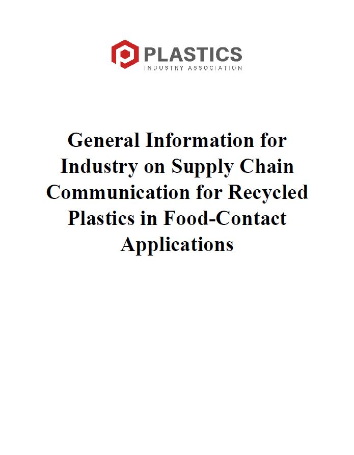 Industry Guidance for Recycled Plastics for Food-Contact