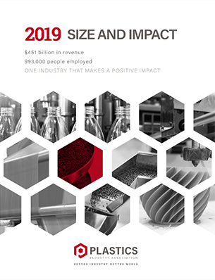 Size and Impact of the Plastics Industry on the U.S.: 2019